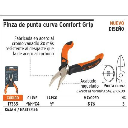 Alicate Comfort Grip mini cortediagonal 107mm