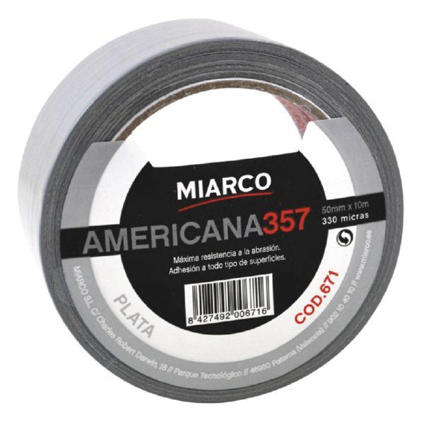 Americana Miarco 398 Plata      50mm x 30m