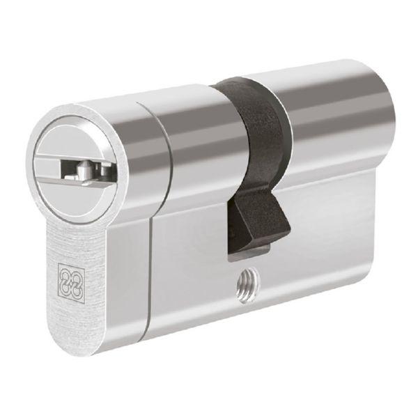 Cilindro de seguridad. Mod. MPRO. Níquel.  31x35 mm.